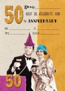 Jelly n Bean 50th Anniversary Invitations - Pack of 20